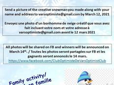 Snowman contest in Vars! Concours de bonhomme de neige à Vars!