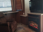 recliner and fire place