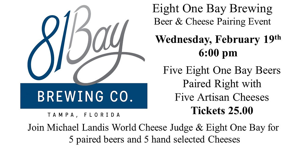 81 Bay Brewing Co Cheese & Beer Pairing