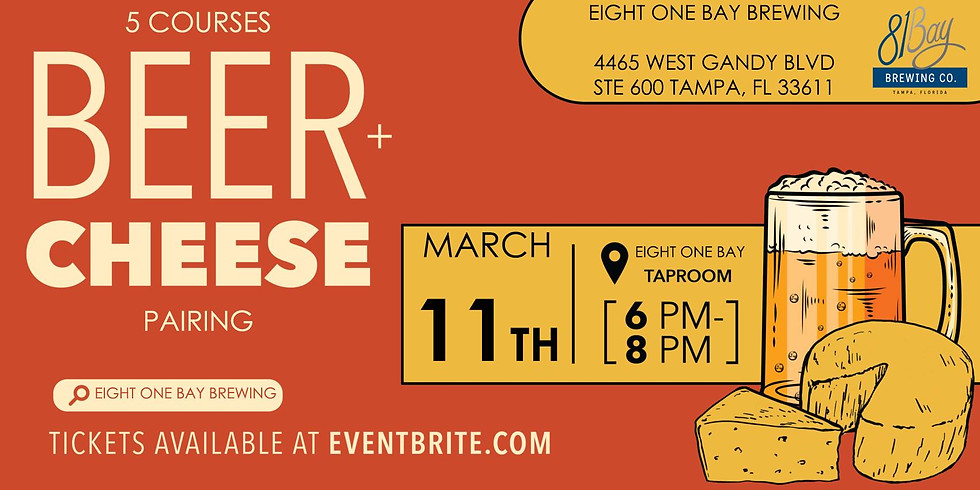 81 Bay Brewing Beer, Cheese & Charcuterie Pairing Event