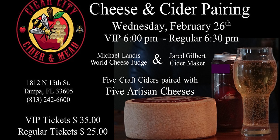 Cigar City Cider & Mead - Cheese & Cider Event