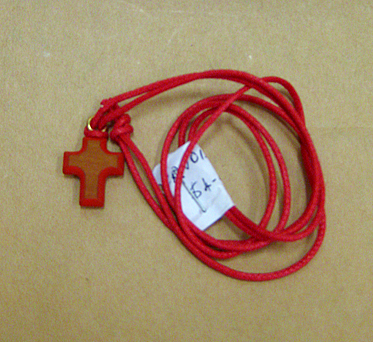 Wooden Cross on Cord