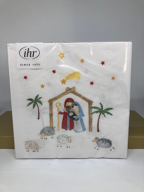 Christmas Crib Lunch Napkins pack 20