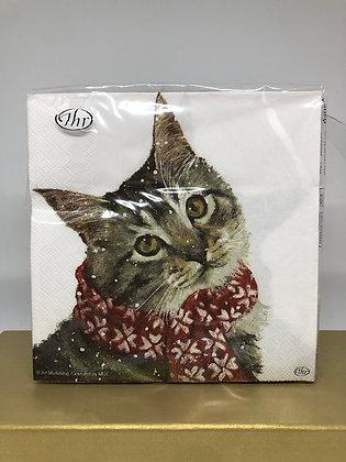 Kitty Christmas Table Napkins