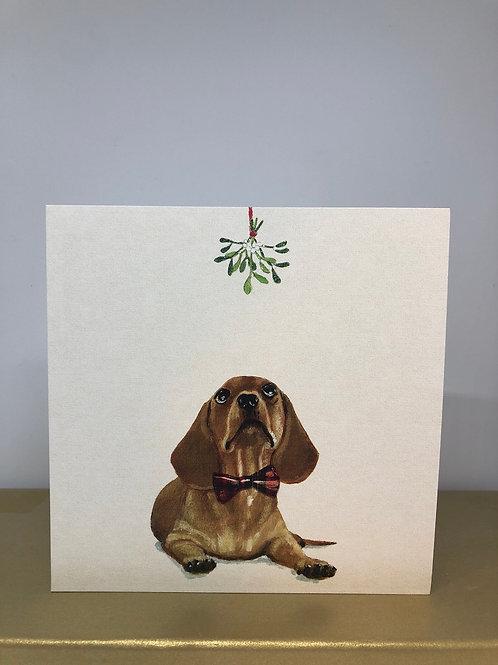 Under the Mistletoe (6 Christmas Cards)