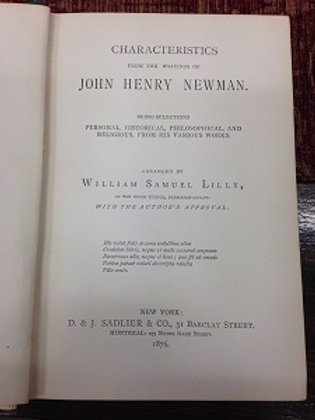 Characteristics from The Writings of J.H.Newman