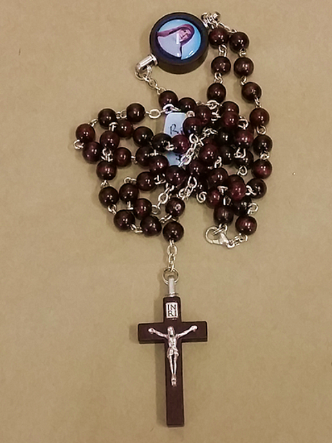 Red-Brown Rosary Beads