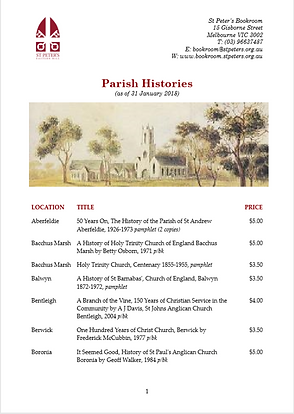 Parish Histories