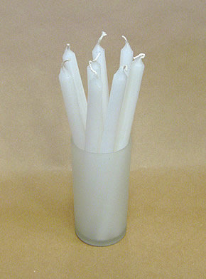 Bag of 50 Christmas Carol White Candles