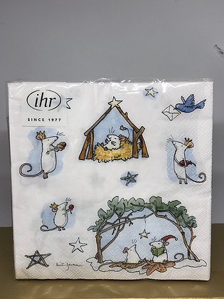 Mice Nativity Napkins