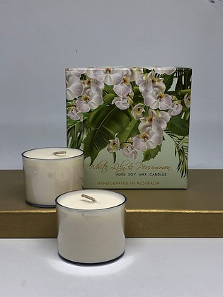 White Lily and Persimmon Candles