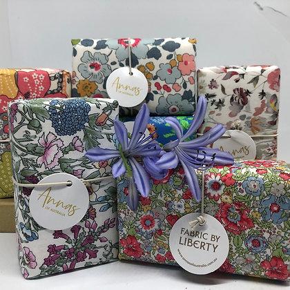 Annas of Australia Liberty Print wrapped soap