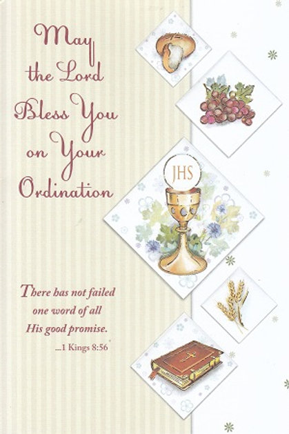 Ordination Card - 1 Kings 8:56