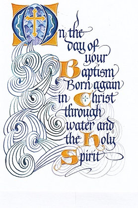 On the day of your Baptism Born again in Christ