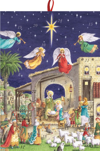 Advent Calendar with Angels