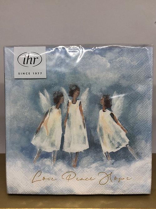 Paper Napkins - Love Peace Hope