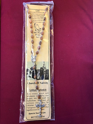 Gift Rosary from Church of Nativity Bethlehem