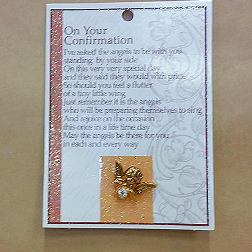 Confirmation Pin - Golden Cherub