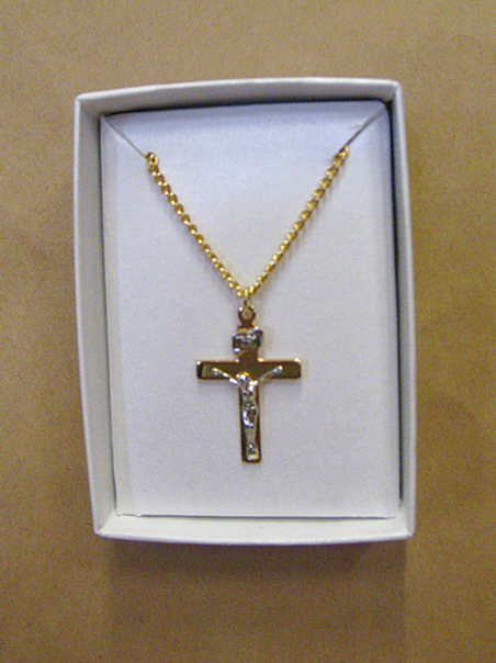 Gold and Silver Crucifix on Chain