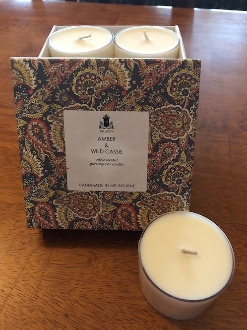 Amber & Cassis Soy Wax Candles