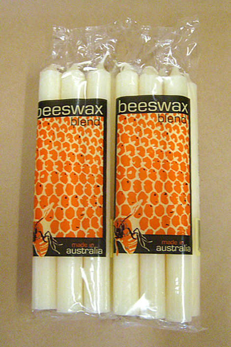 Packet of 6 beeswax candles