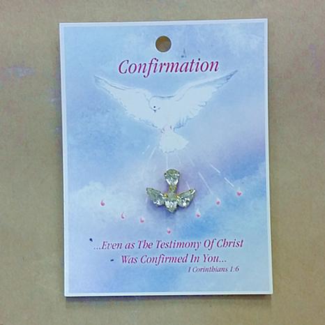 Confirmation Pin - Australian Crystal Dove