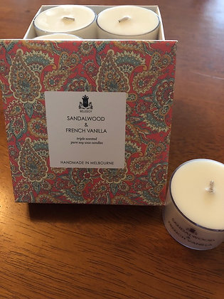 Sandalwood & French Vanilla Soy Wax Candles