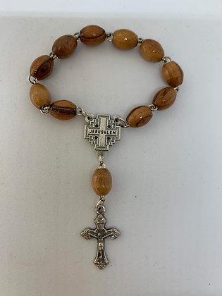 Finger Rosary Olive Wood from Bethlehem