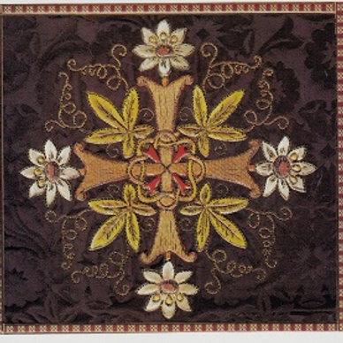 A silk damask burse