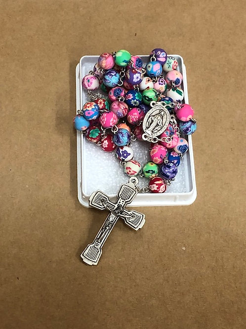 Multi-coloured Rosary Beads
