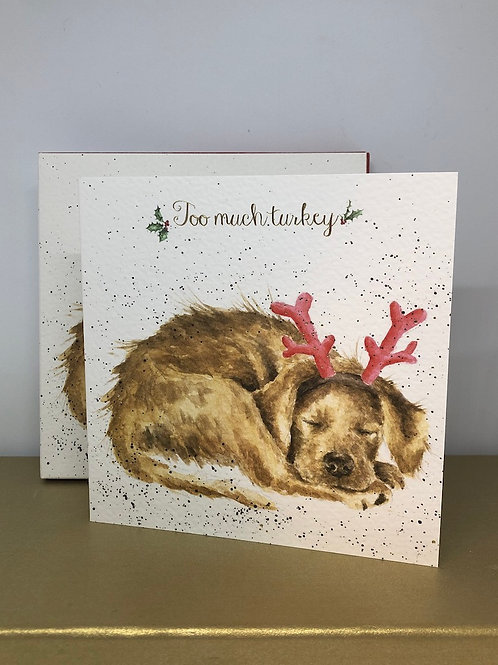 Too much turkey (8 Luxury Christmas Cards)