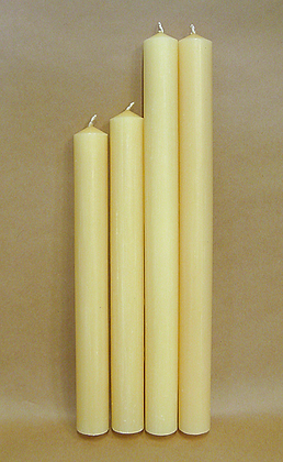 1 1/4 inch (32 mm) diameter candles