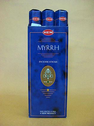 Tube Single Myrrh Incense Sticks