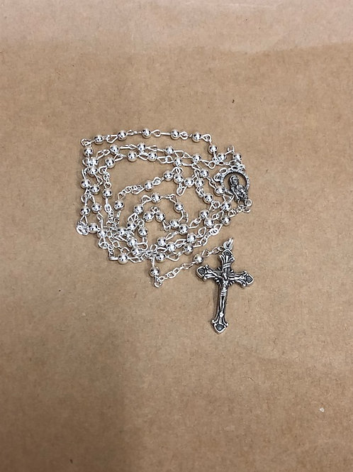 Delicate Silver Rosary