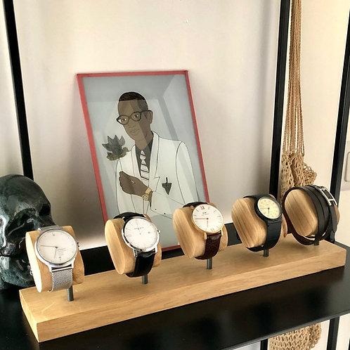 Présentoir montres x5 collectionneur montres