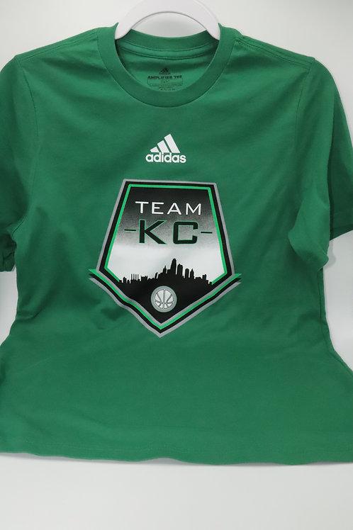 Team KC Adidas SS Amplifier T-Shirt Green