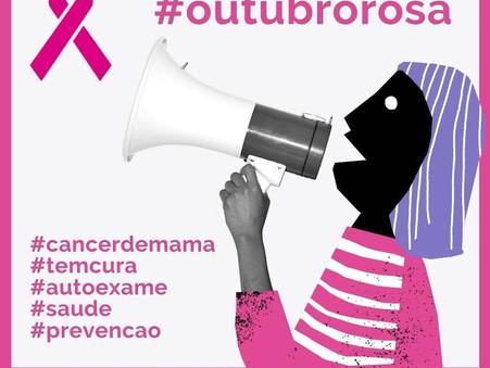 Todos juntas na luta contra o Câncer de Mama.