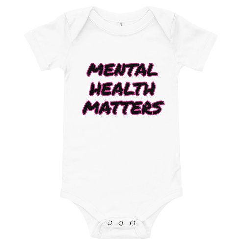 Mental Health Matters Outlined Onesie