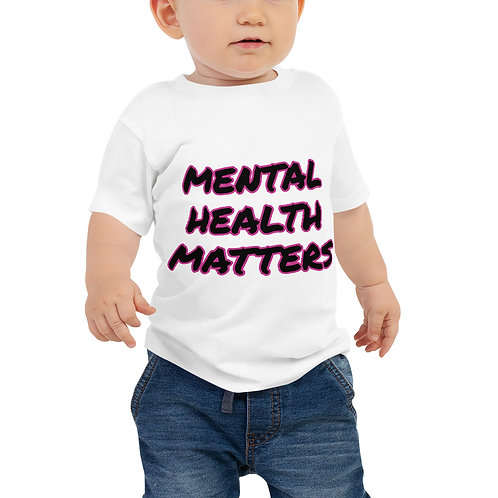 Mental Health Matters Outlined Baby Short Sleeve Tee