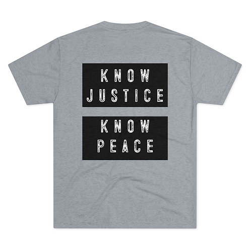 Know Justice Know Peace Crew Tee