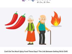 Can't Eat Too Much Spicy Food These Days? The Link Between Getting Old and Chilli
