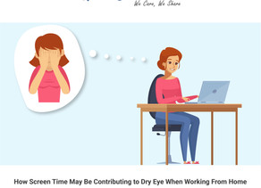 How Screen Time May Be Contributing to Dry Eye When Working From Home