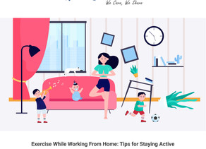 Exercise While Working From Home: Tips for Staying Active