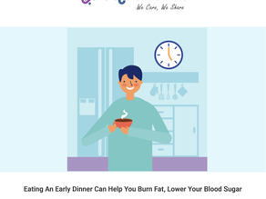 Eating an Early Dinner Can Help You Burn Fat, Lower Your Blood Sugar