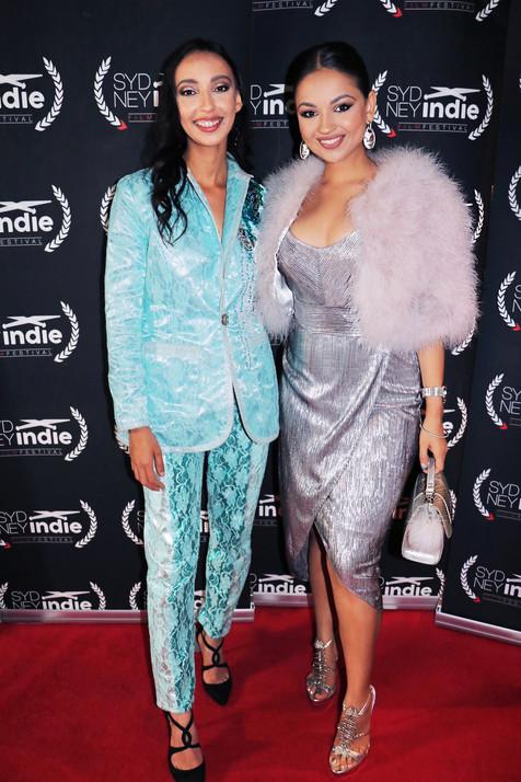 Sangeetha Gowda (Left)