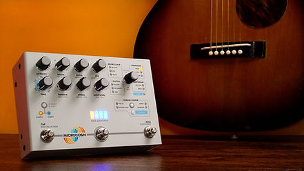 Effects Pedal and Acoustic Guitar