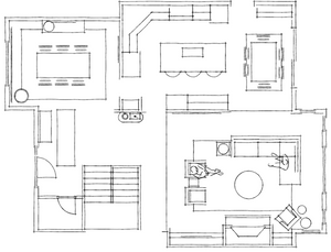 2D Room Layout Ideas; living room; dining room; kitchen