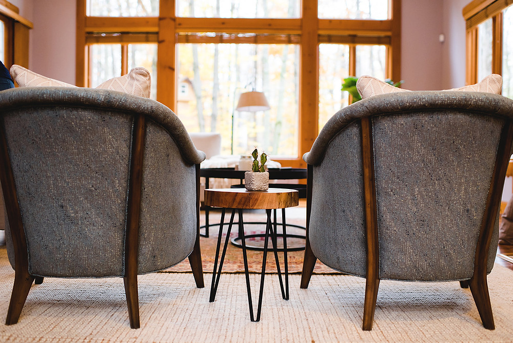 Two of the chairs selected by Lauren Figueroa Interior Designs.