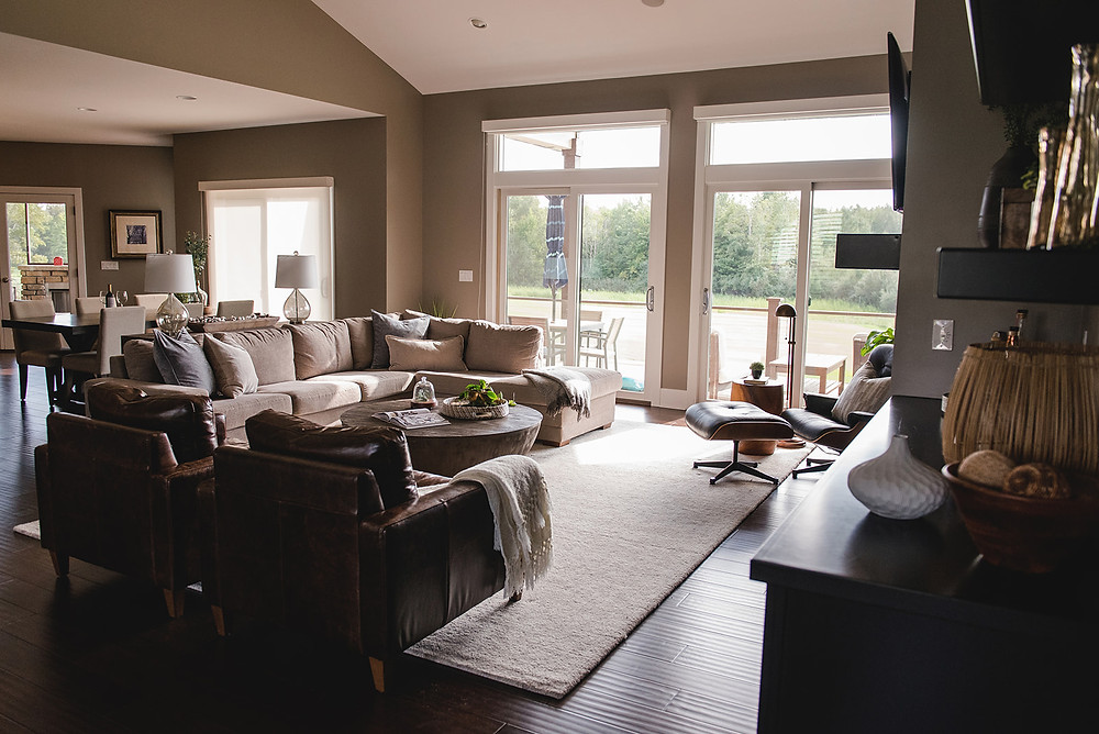 A wide view of the living room by Lauren Figueroa.