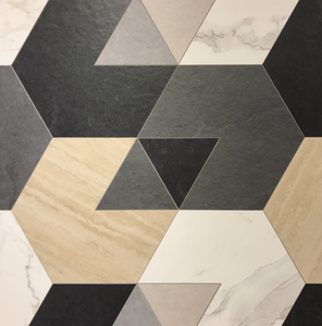 A collection of matte, geometric tiles by Sant' Agostino.
